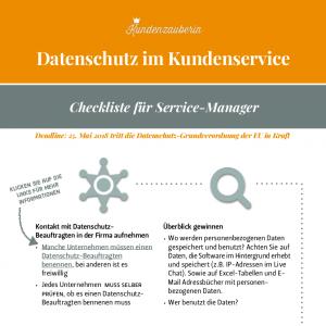 Datenschutz von Kundendaten Infografik