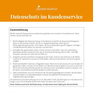 Datenschutz im Kundenservice
